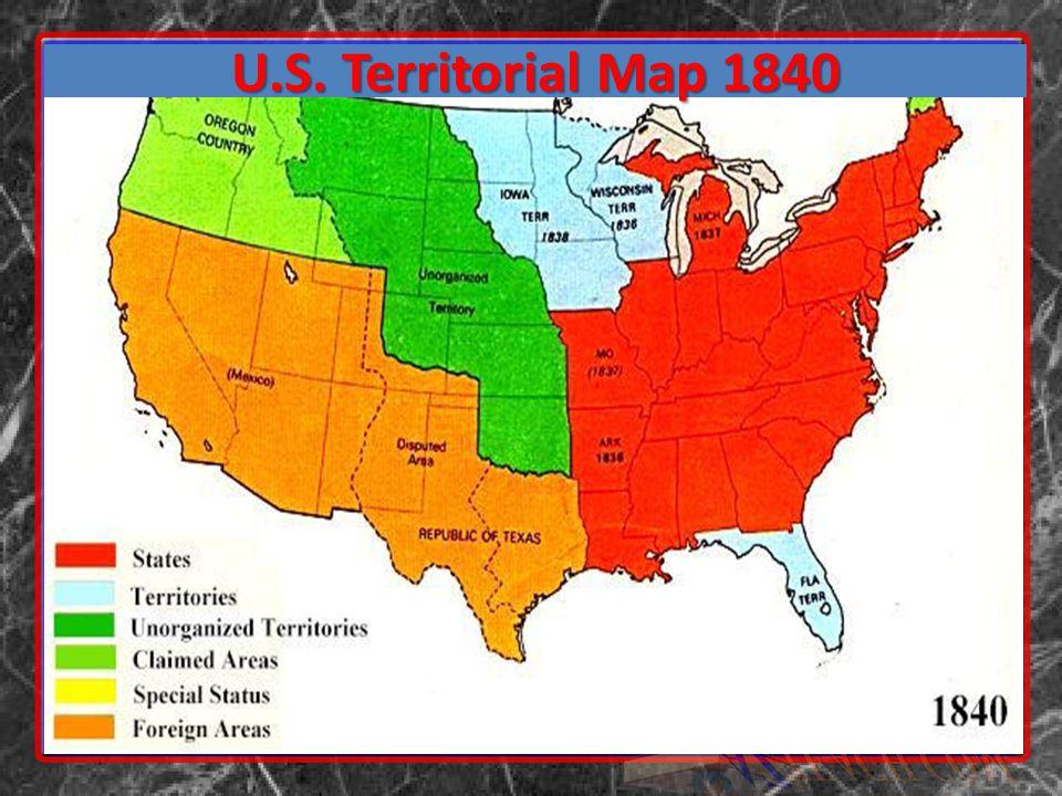 U.S. Territorial Map 1840