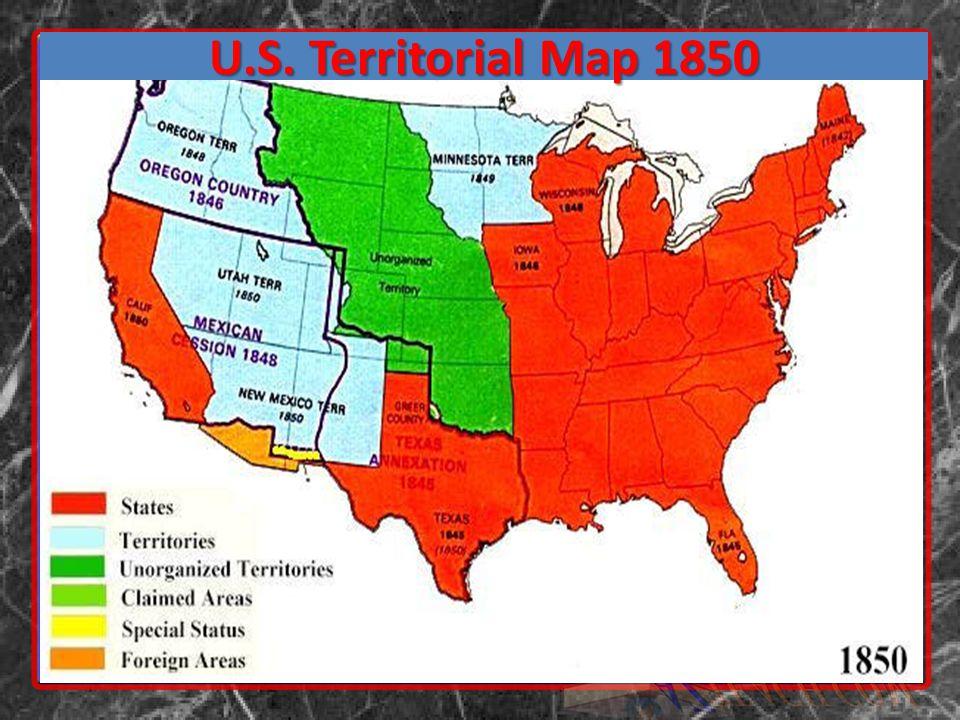 U.S. Territorial Map 1850