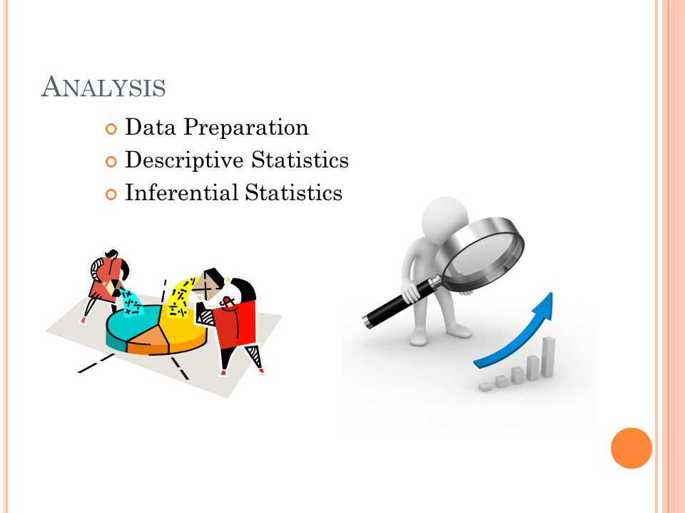 A NALYSIS Data Preparation Descriptive Statistics Inferential Statistics