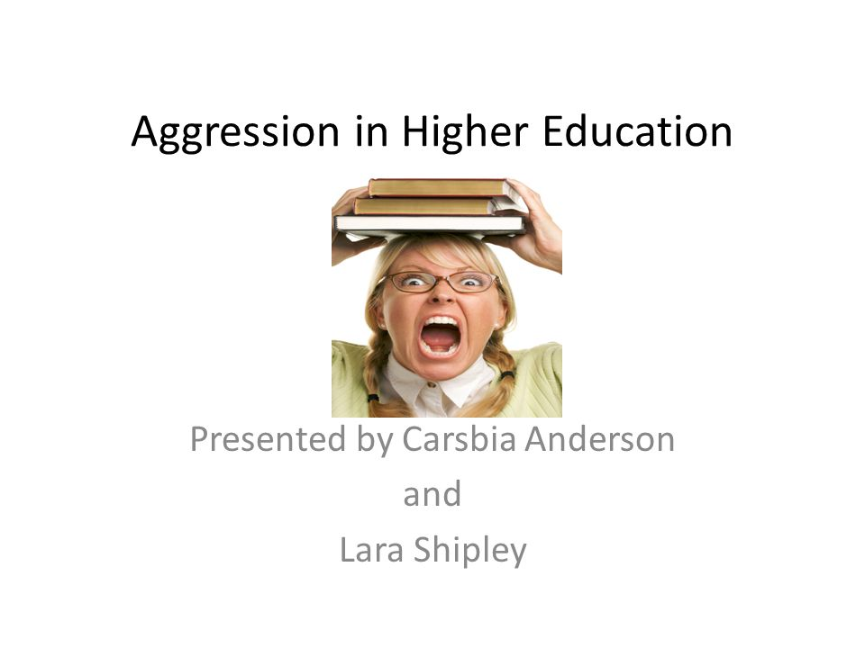 Aggressive Behavior Types The Exploder – This individual will have wide mood swings – Will be a loud mouth and will make insulting and cutting remarks – They want everyone to silence those who disagree with them and are happiest when others are passive
