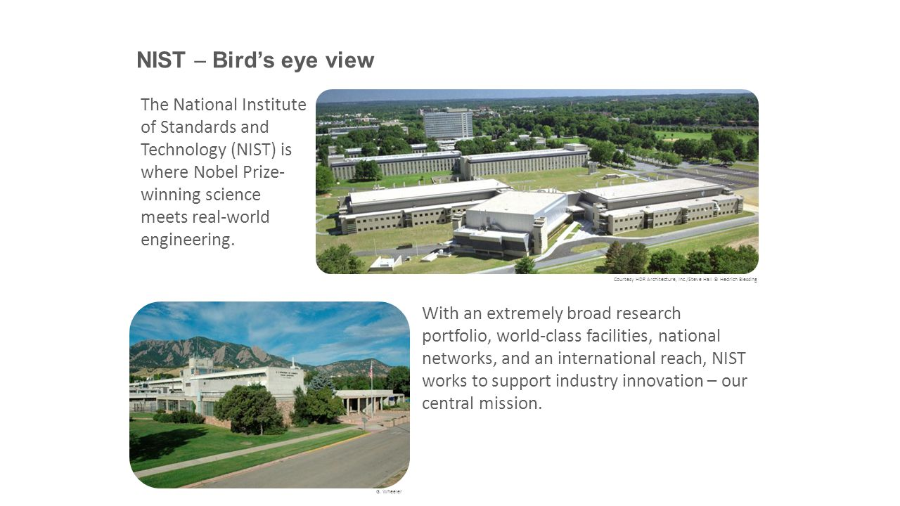 NIST  Bird's eye view Courtesy HDR Architecture, Inc./Steve Hall © Hedrich Blessing G.