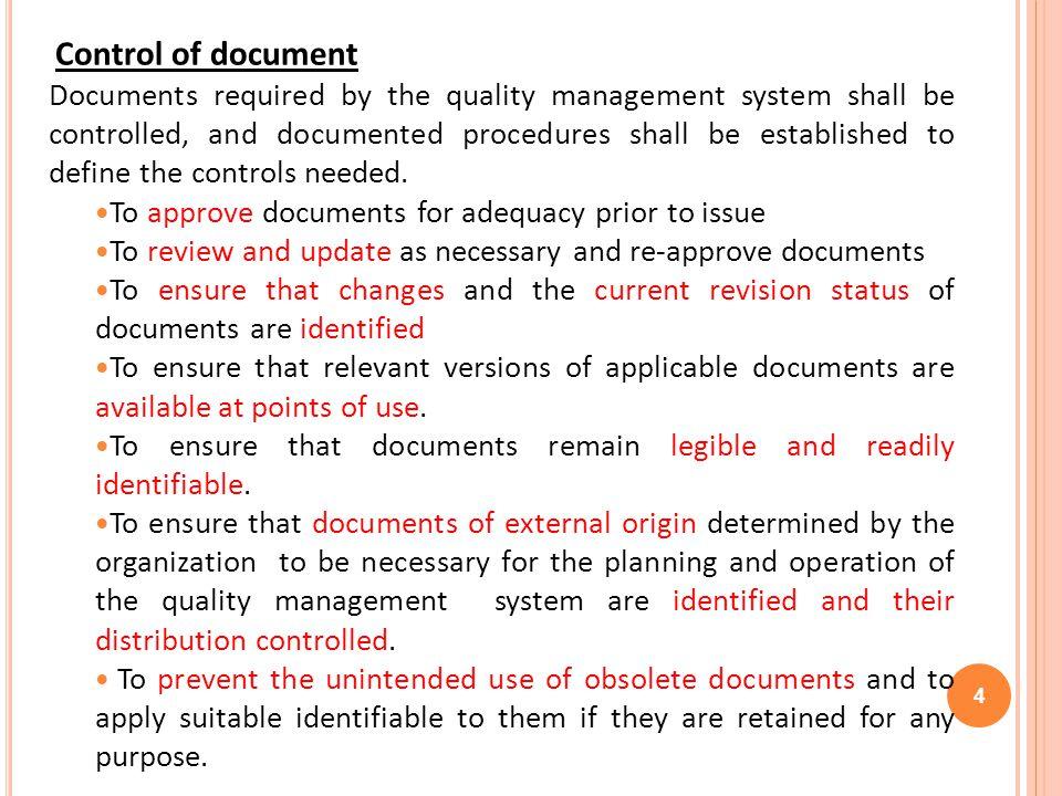 QMS- DOCUMENTATION HIERARCHY 15 I LevelPolicyWhat do we do.
