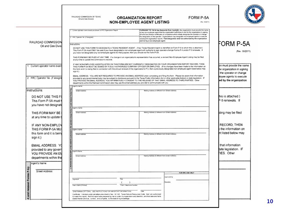 P-5A Form 10