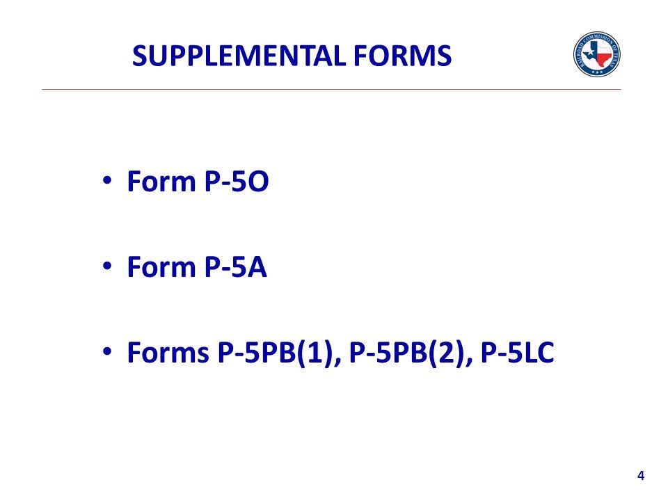 P-5 Form 5
