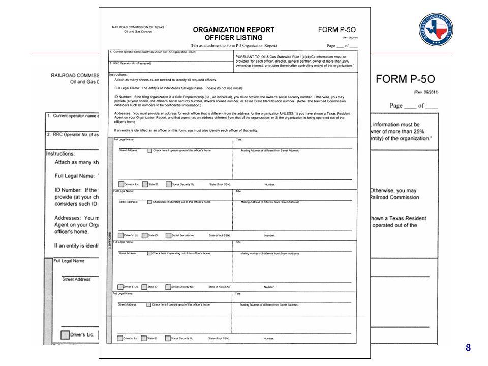 Form P-5O (Officer Listing) 9