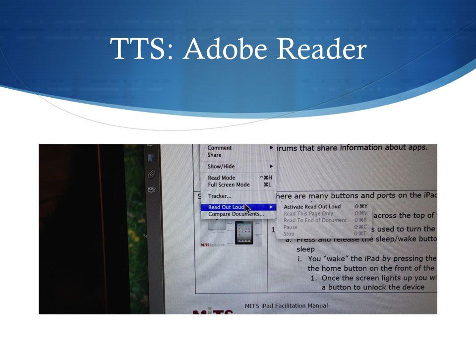 TTS: Adobe Reader