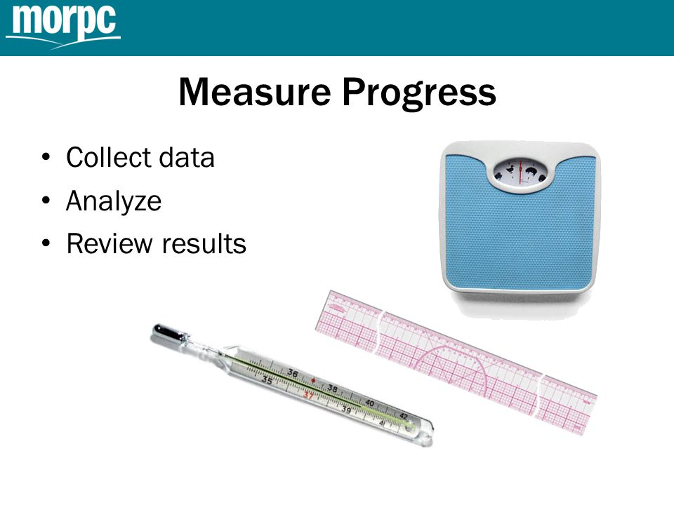 Measure Progress Collect data Analyze Review results
