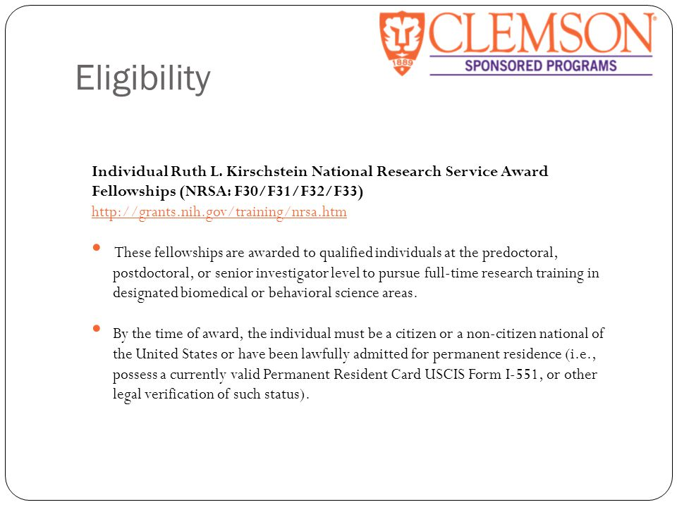 Eligibility Individual Ruth L.