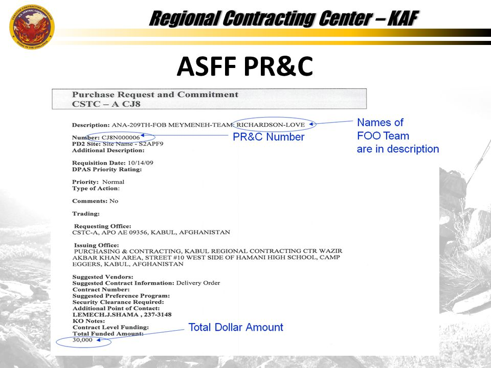 Regional Contracting Center – KAFRegional Contracting Center – KAF ASFF PR&C