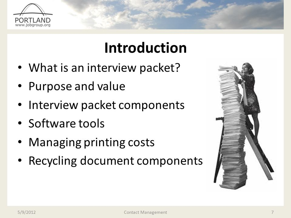 Introduction What is an interview packet.