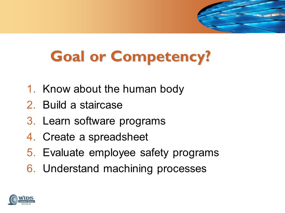 Goal or Competency.