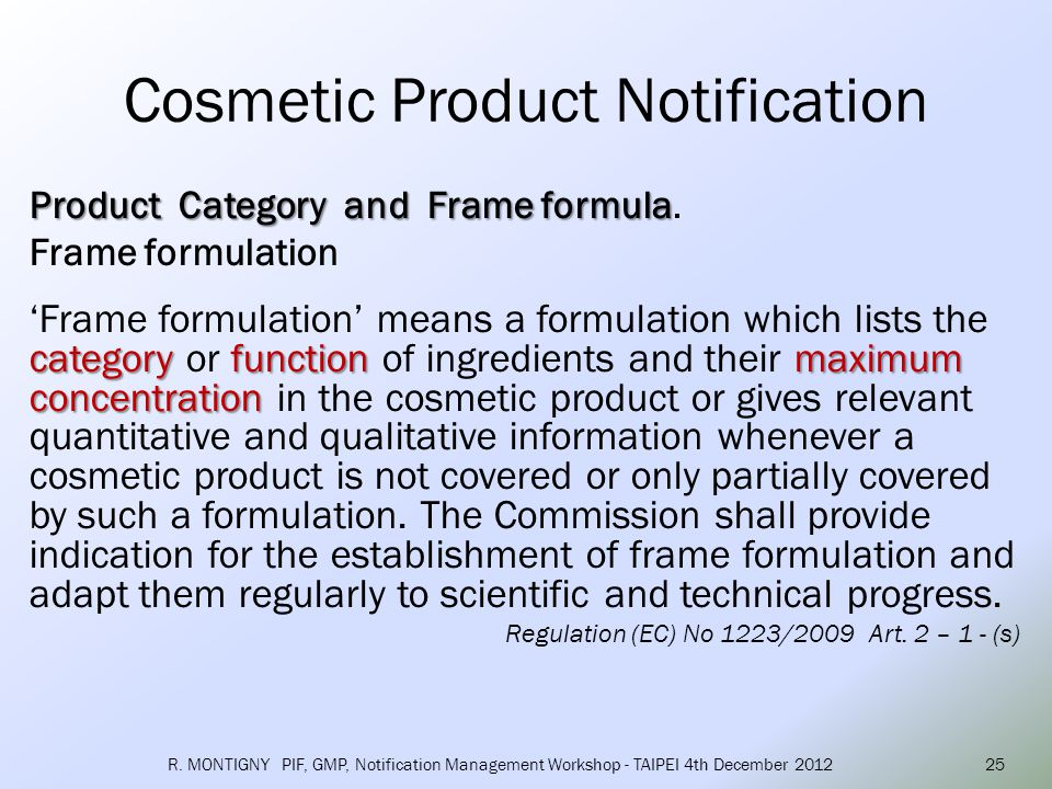 Category of cosmetic product responsible person The responsible person has to select three category levels, starting by the level 1, followed subsequently by level 2 and 3.