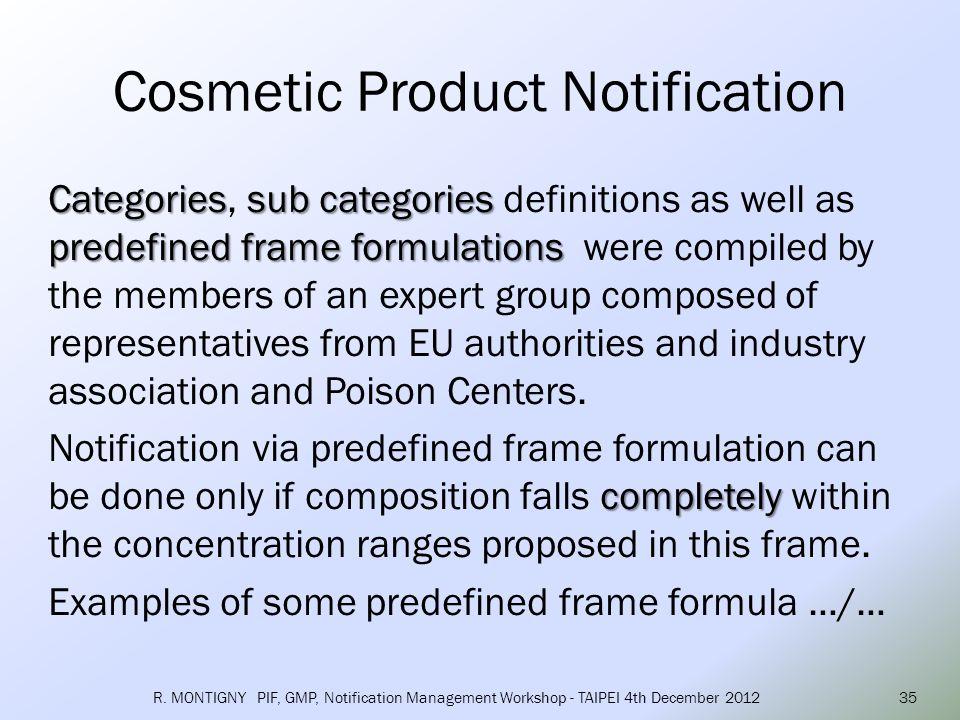 Frame formulation Number: 1.1 – 2011 SKIN CARE CREAM, LOTION, GEL Ingredients Maximum levels (% w/w) Oils (e.g.