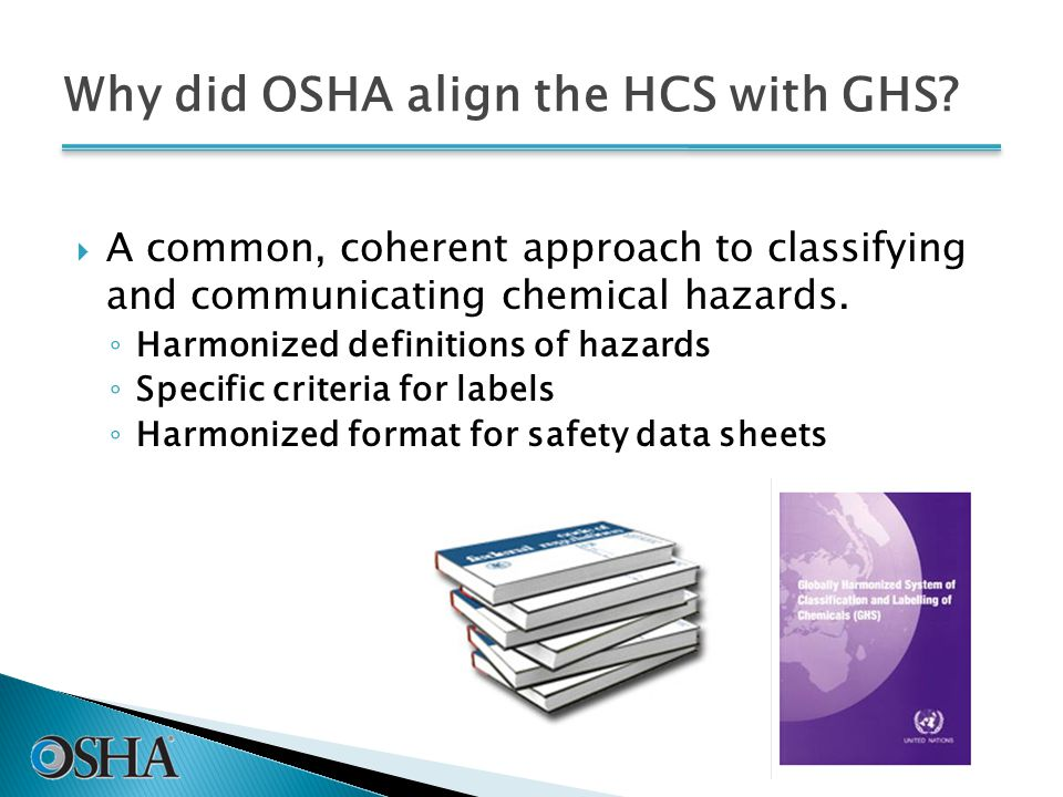 Why did OSHA align the HCS with GHS.