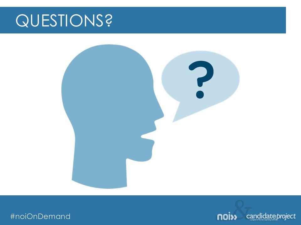 & #noiOnDemand & #noiOnDemand QUESTIONS