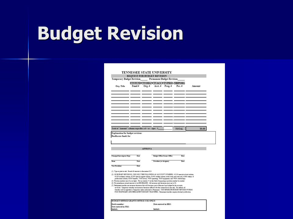 Budget Revision