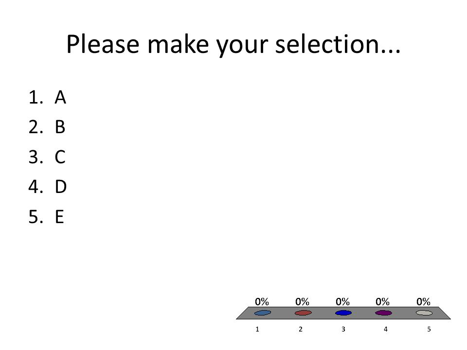 Please make your selection... 1.i only 2.iii only 3.i and ii only 4.ii and iii only 5.i, ii, iii