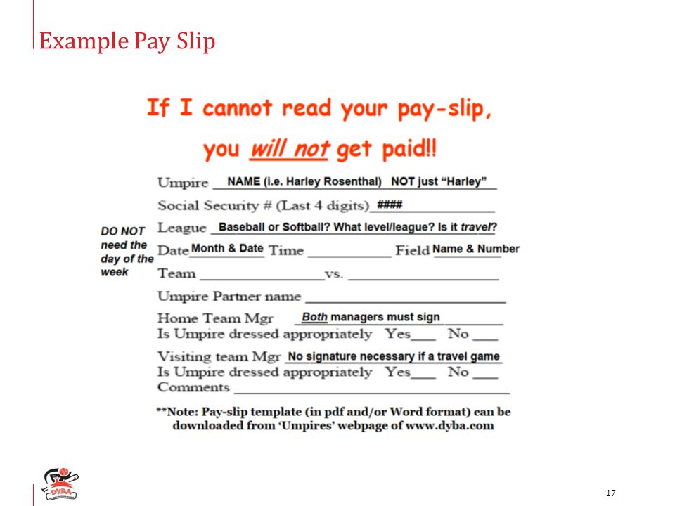 Example Pay Slip 17