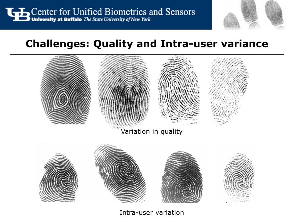 Challenges: Quality and Intra-user variance Variation in quality Intra-user variation