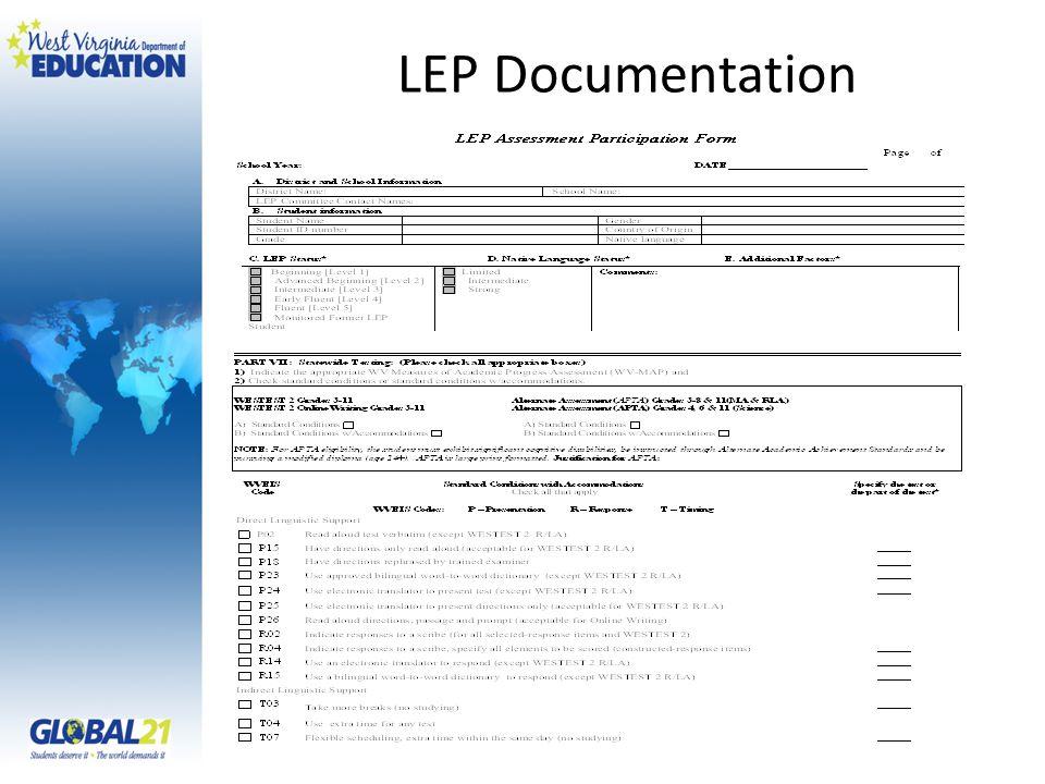 LEP Documentation
