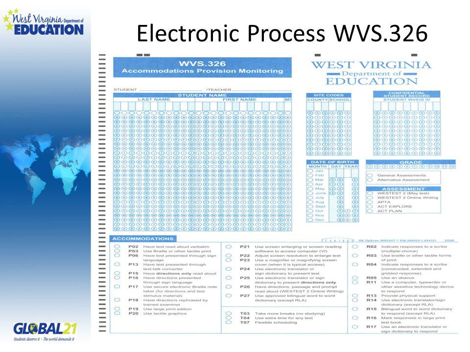 Electronic Process WVS.326