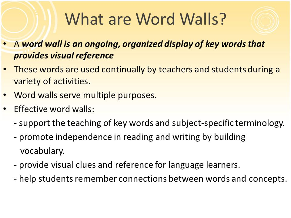 What are Word Walls.