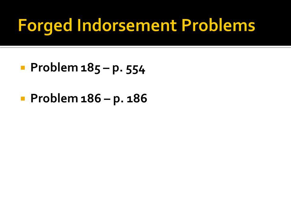  Problem 185 – p. 554  Problem 186 – p. 186