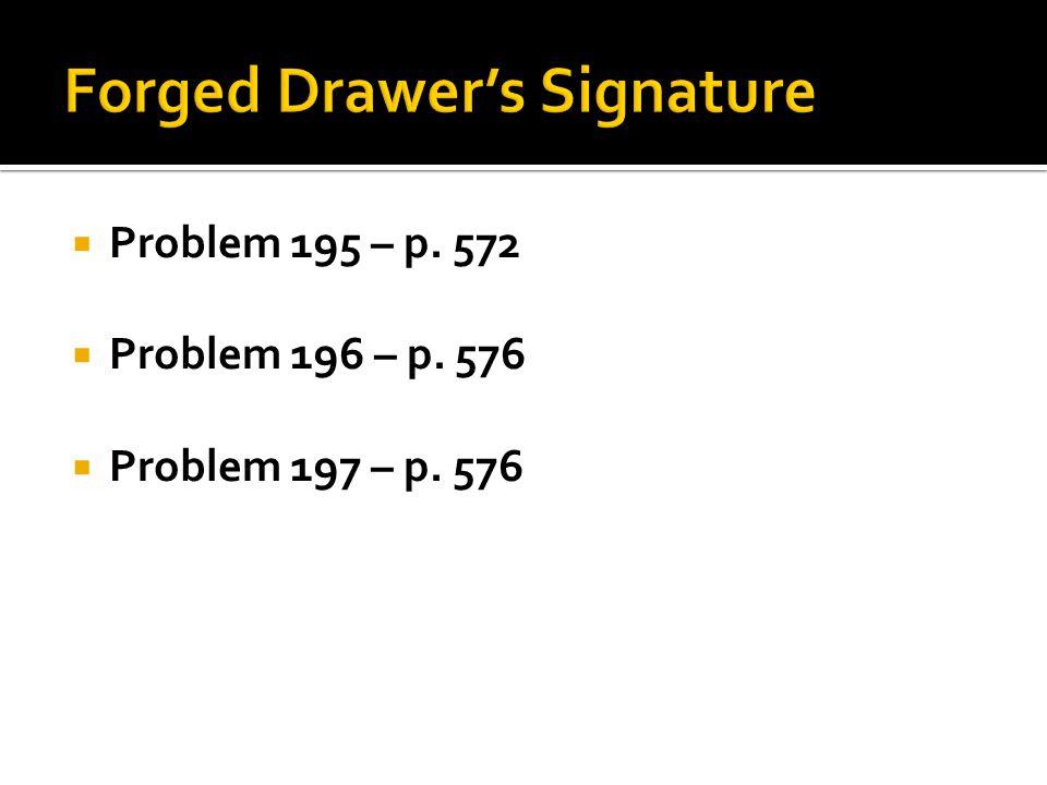  Problem 195 – p. 572  Problem 196 – p. 576  Problem 197 – p. 576