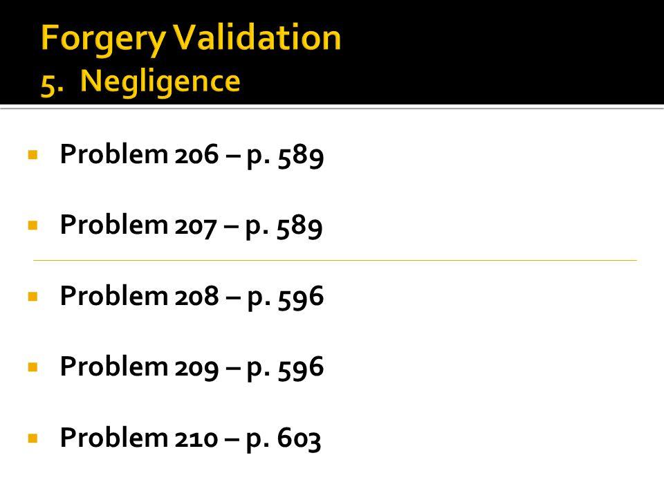  Problem 206 – p. 589  Problem 207 – p. 589  Problem 208 – p.
