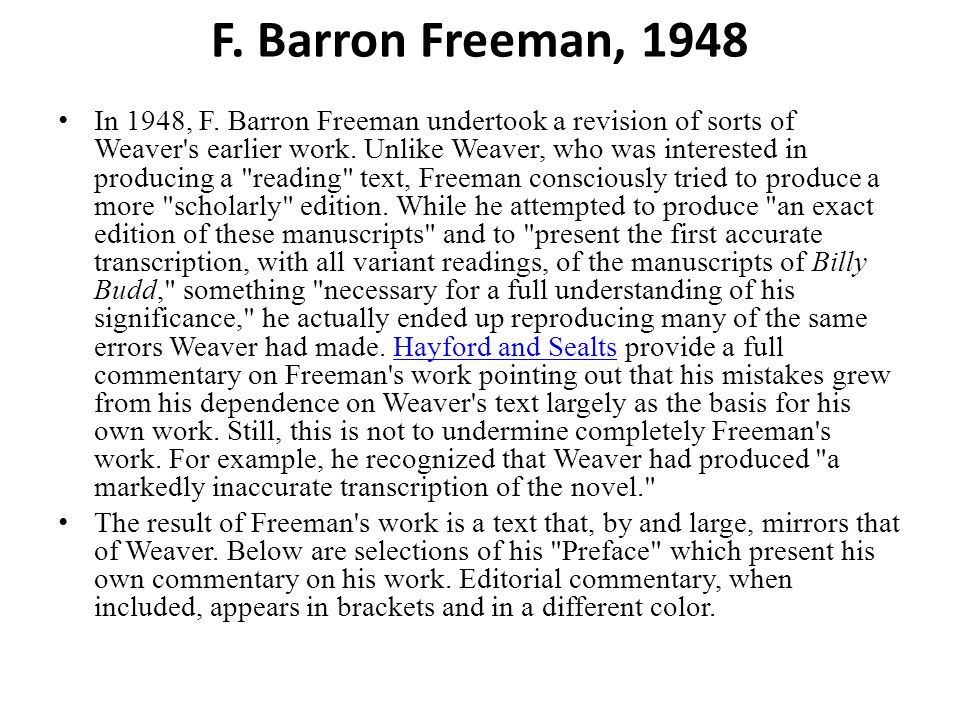 F. Barron Freeman, 1948 In 1948, F.