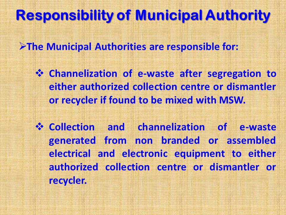 Guidelines on Implementation of E-Waste Rules 2011