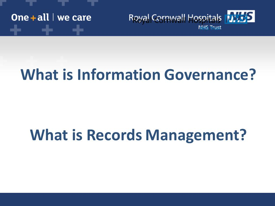 What is Information Governance? What is Records Management?