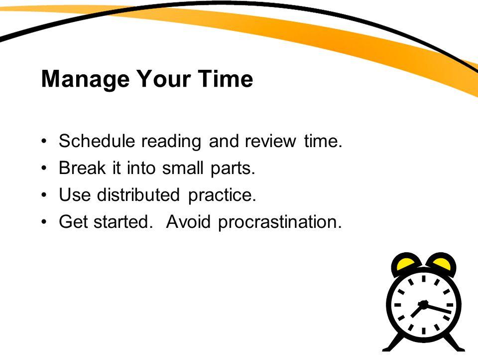 Avoid Cramming!