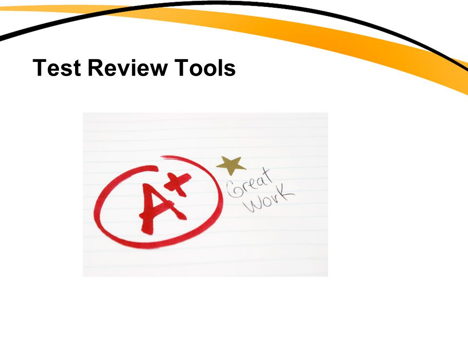Test Review Tools