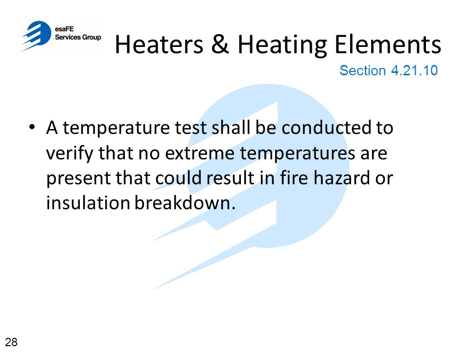 Heaters & Heating Elements 400 Degrees Celsius in 10 minutes Section 4.21.10 29