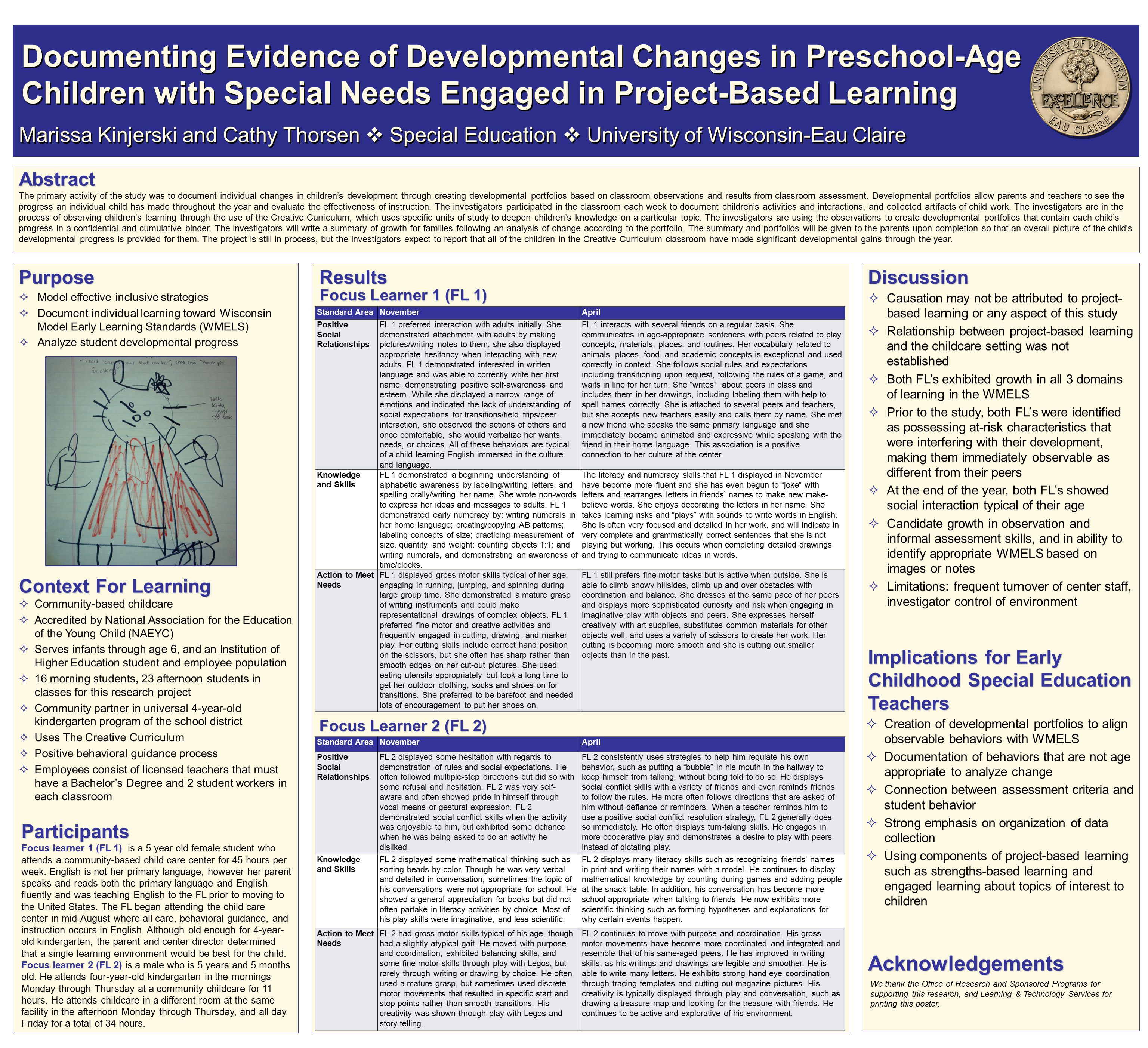 Standard AreaNovemberApril Positive Social Relationships FL 1 preferred interaction with adults initially.