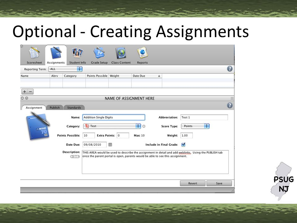 Optional - Creating Assignments