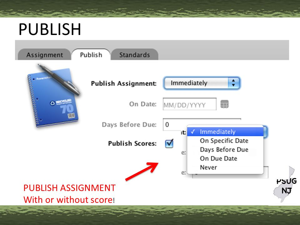 PUBLISH PUBLISH ASSIGNMENT With or without score !