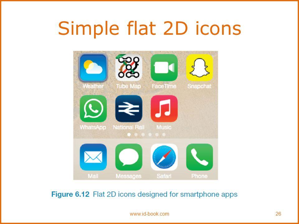 Simple flat 2D icons www.id-book.com26