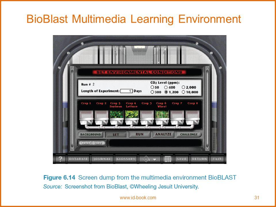 BioBlast Multimedia Learning Environment www.id-book.com31