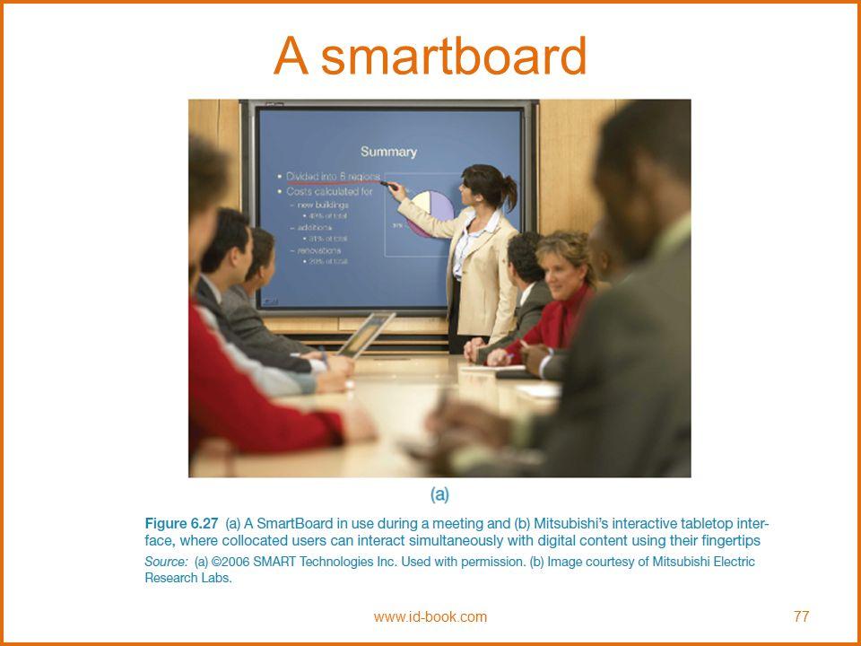 A smartboard www.id-book.com77