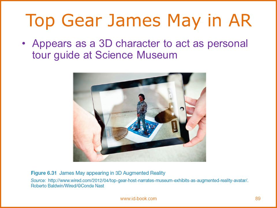 Top Gear James May in AR Appears as a 3D character to act as personal tour guide at Science Museum www.id-book.com89