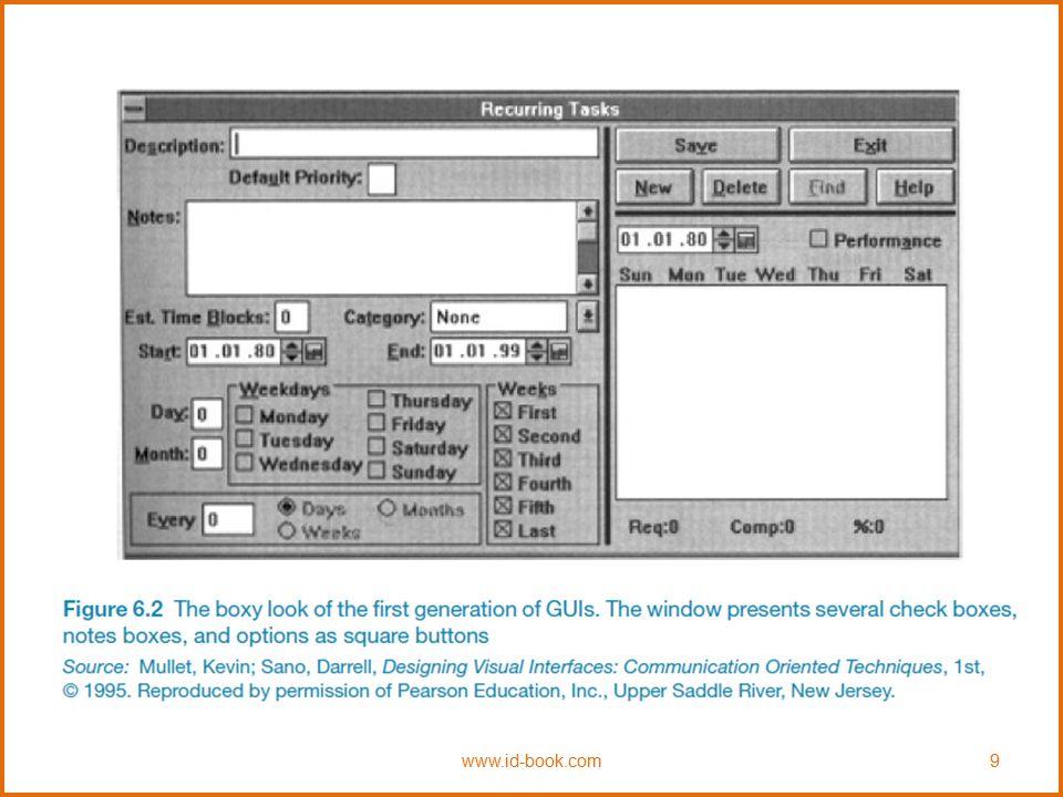 Apple's shrinking windows www.id-book.com10