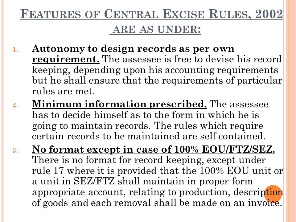 Requirements at the time of filing ER-1 return are: 1.