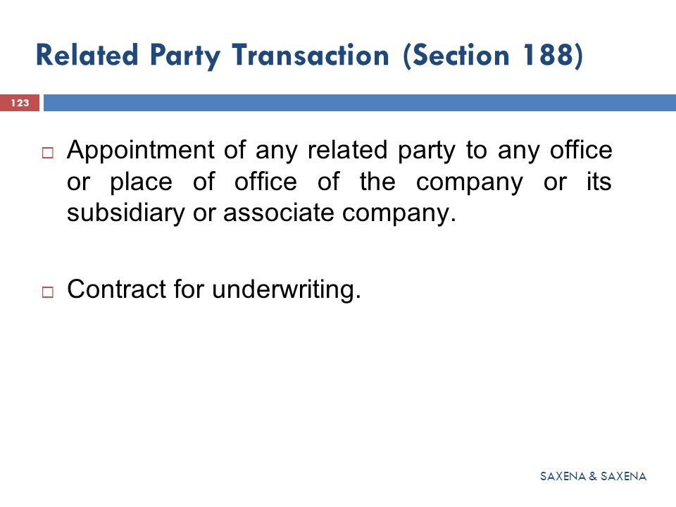 Related Party Transaction (Section 188)  Appointment of any related party to any office or place of office of the company or its subsidiary or associ