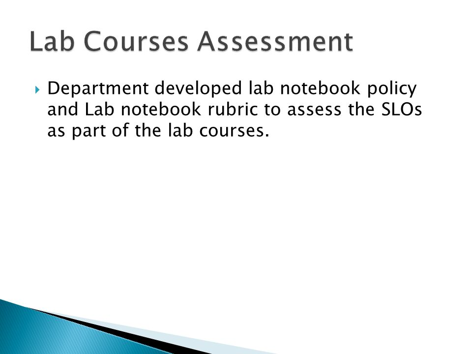 All students will maintain a lab notebook.