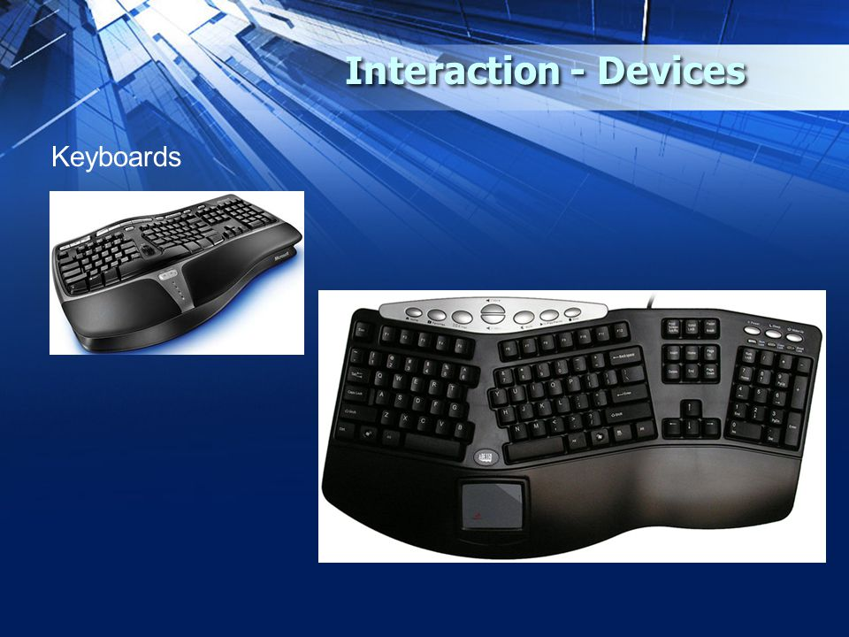 Interaction - Devices Keyboards