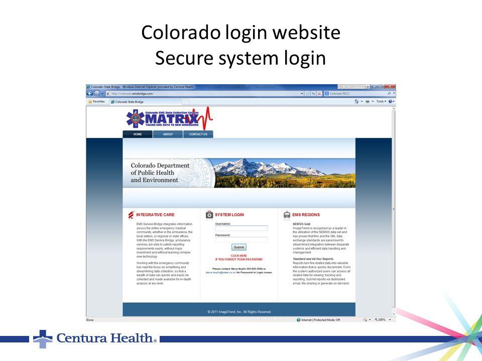 Colorado login website Secure system login
