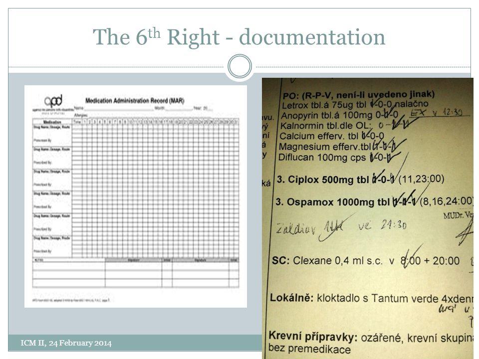 The 6 th Right - documentation ICM II, 24 February 2014