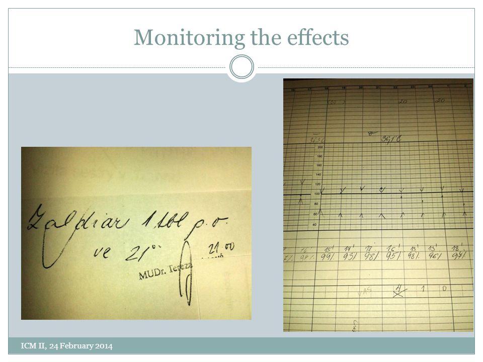 Monitoring the effects ICM II, 24 February 2014